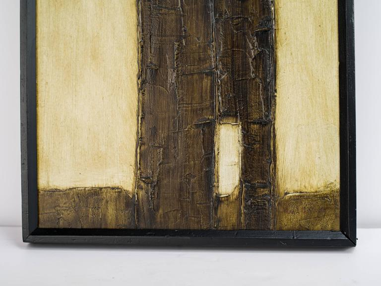 Brutalist Mid-Century Abstract Painting, Untitled 5