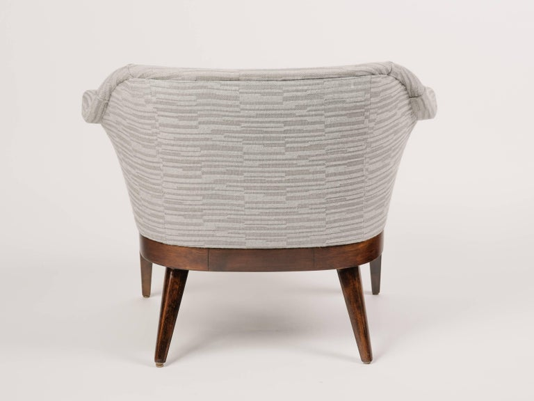 Mid-20th Century Mid-Century Modern Stingray Armchair in Embossed Woven Wool  For Sale