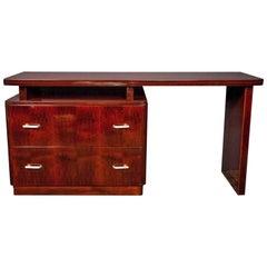 Art Deco Mahogany Desk and Dresser