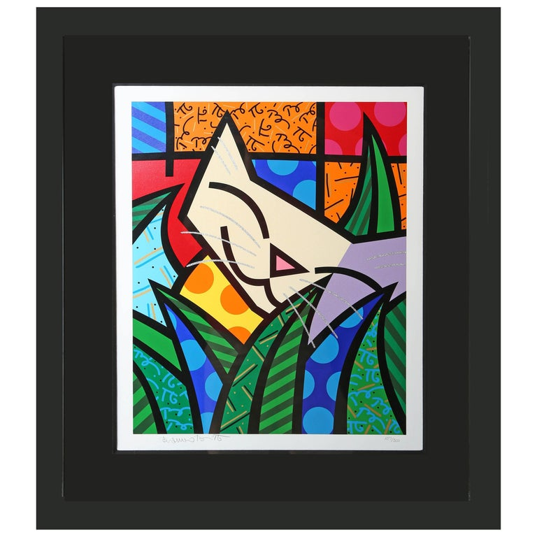 Behind the Bushes, Limited Edition Art Serigraph by Romero Britto