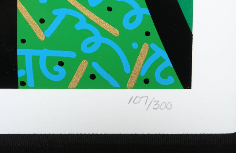 Contemporary Behind the Bushes, Limited Edition Art Serigraph by Romero Britto For Sale