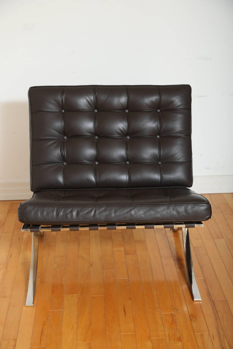 American Iconic Barcelona Lounge Chair by Mies van der Rohe For Sale