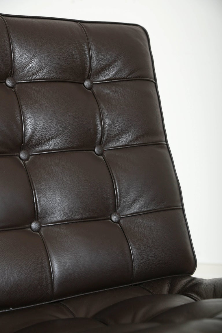 Iconic Barcelona Lounge Chair by Mies van der Rohe In Good Condition For Sale In Stamford, CT