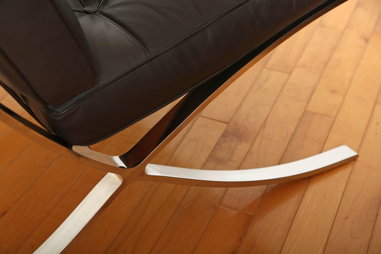 Late 20th Century Iconic Barcelona Lounge Chair by Mies van der Rohe For Sale