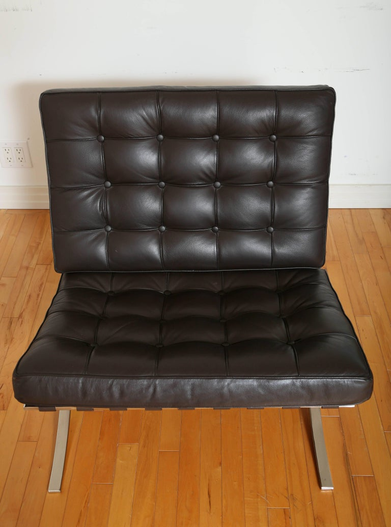 Iconic Barcelona Lounge Chair by Mies van der Rohe For Sale 1