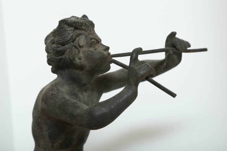 Italian 19th Century Antique Bronze Sculpture of Pan the Mythological God For Sale