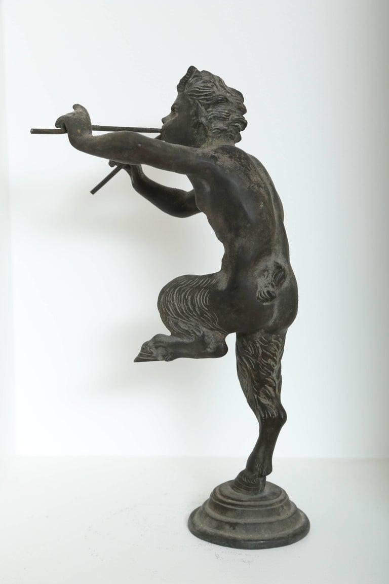 19th Century Antique Bronze Sculpture of Pan the Mythological God For Sale 2
