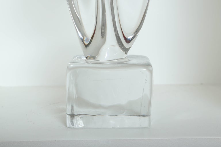 Late 20th Century Italian Mid Century Modern Abstract Sculpture in Murano Glass For Sale