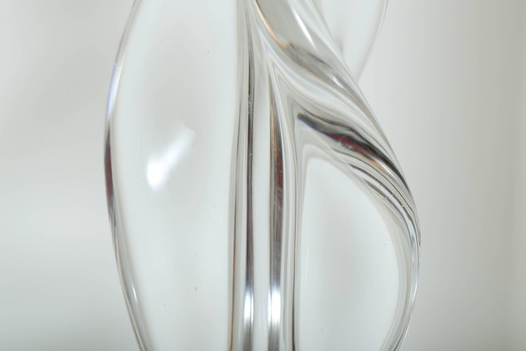 Italian Mid Century Modern Abstract Sculpture in Murano Glass For Sale 3