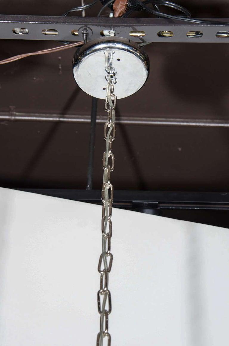 Chrome Italian Mid-Century Modern Sculptural Mobile Pendant For Sale