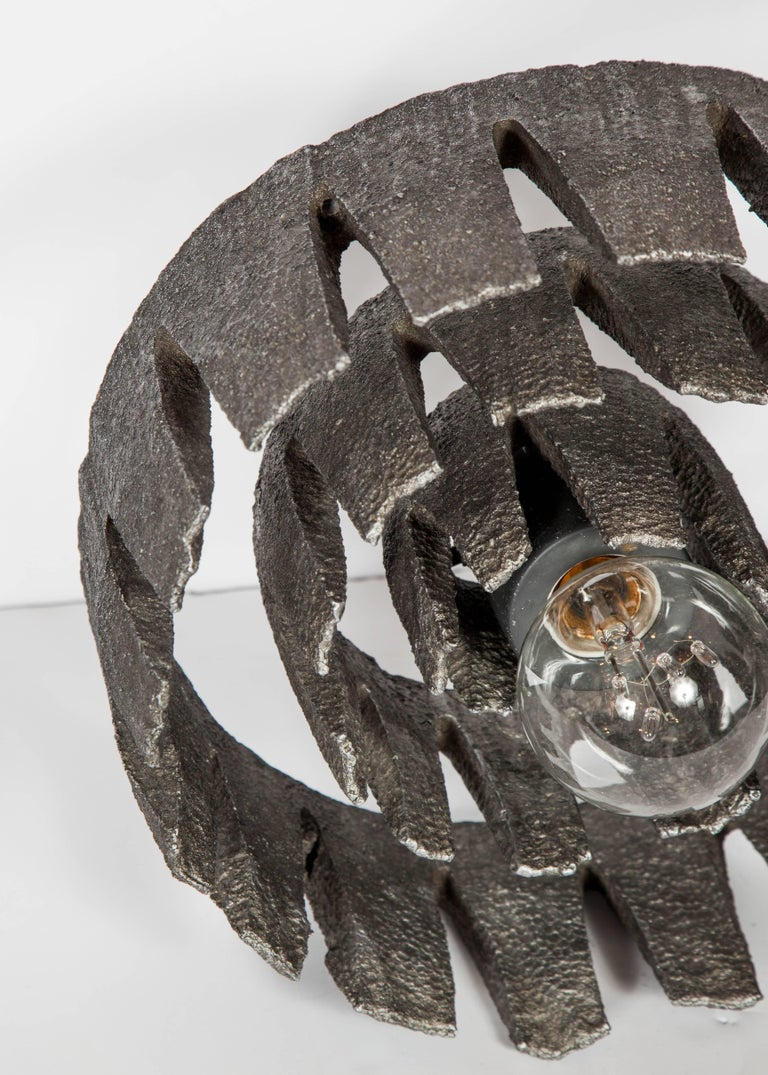 Mid-20th Century Mid-Century Modern Brutalist Spiral Sculpture and Lamp from Germany For Sale
