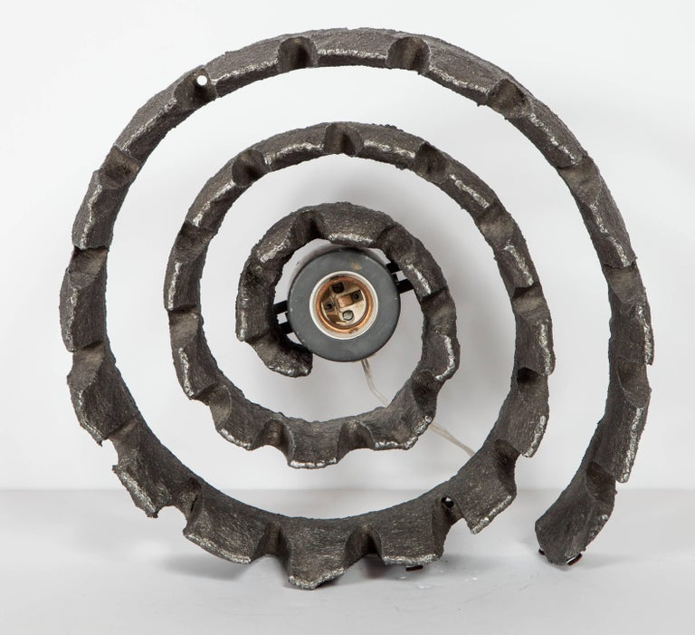 Mid-Century Modern Brutalist Spiral Sculpture and Lamp from Germany For Sale 4