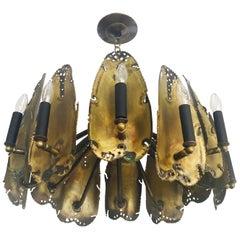 Midcentury Brutalist Chandelier Designed by Tom Greene