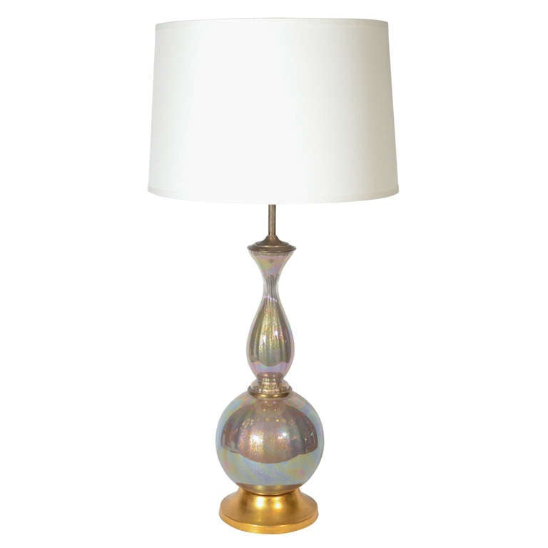 Mid-Century Modern Murano Long Neck Baluster Lamp by Marbro For Sale
