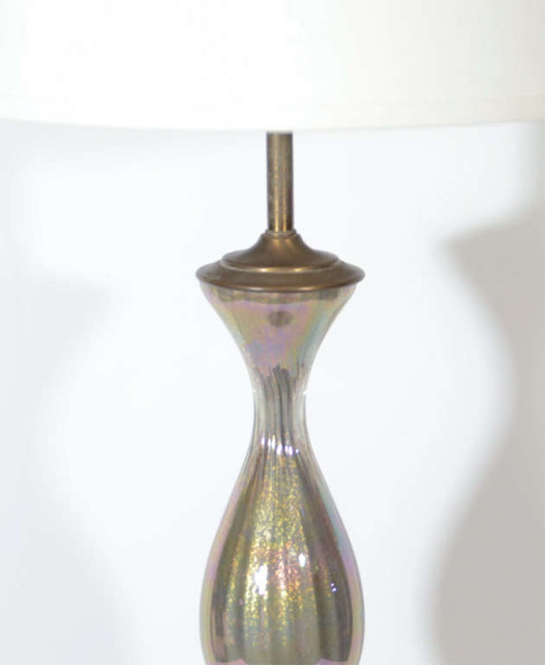 Mid-Century Modern Murano Long Neck Baluster Lamp by Marbro In Good Condition For Sale In Stamford, CT