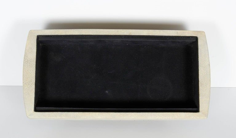 Exquisite Exotic Shagreen and Pen Shell Footed Box 5