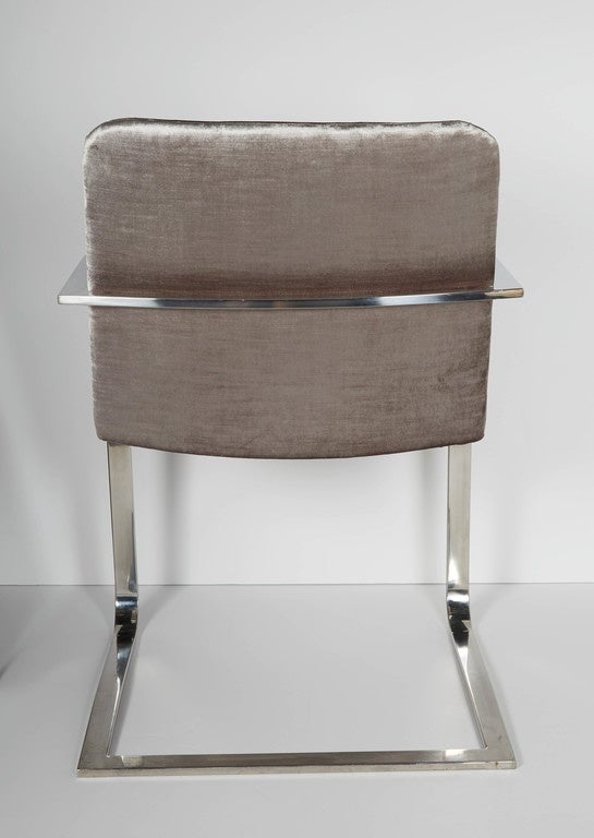 Polished Pair of Mid-Century Modern Side Chairs or Office Chairs by Brueton