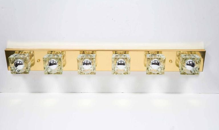 Mid-Century Modern Brass Vanity Light Sconce by Gaetano Sciolari 4