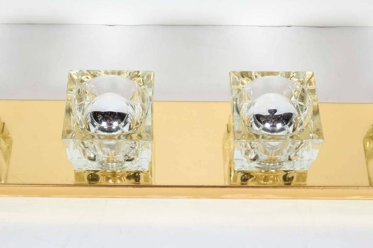 Mid-Century Modern Brass Vanity Light Sconce by Gaetano Sciolari 3