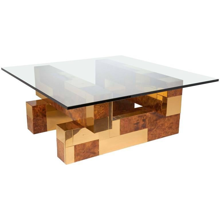Post-Modern Mid-Century Modern Cityscape Coffee Table by Paul Evans For Sale