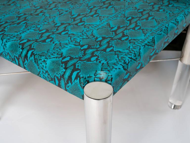 Python Print Modernist Game Table in the Manner of Karl Springer 4