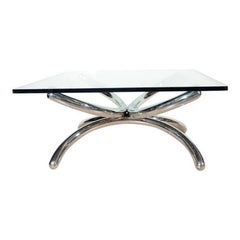 Italian Mid-Century Modern Coffee Table with Sculptural Base Design