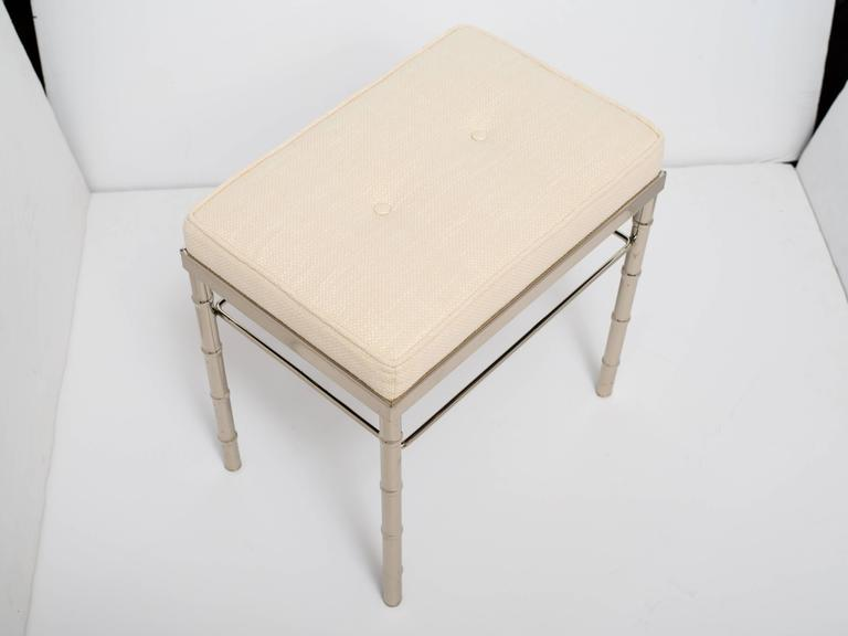 Hollywood Regency Vanity Stool In The Manner Of Maison