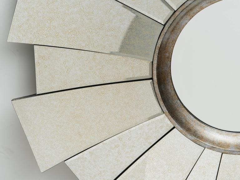 Art Deco Style Sunburst Mirror In Excellent Condition For Sale In Stamford, CT