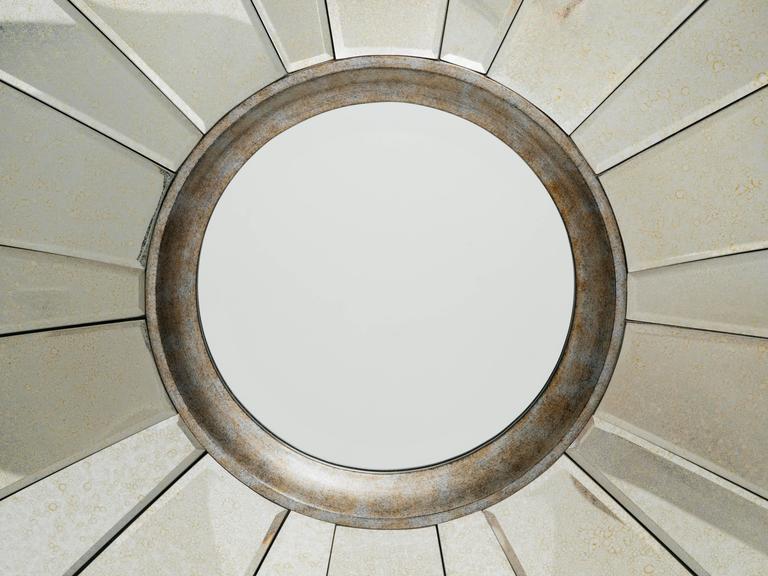 American Art Deco Style Sunburst Mirror For Sale