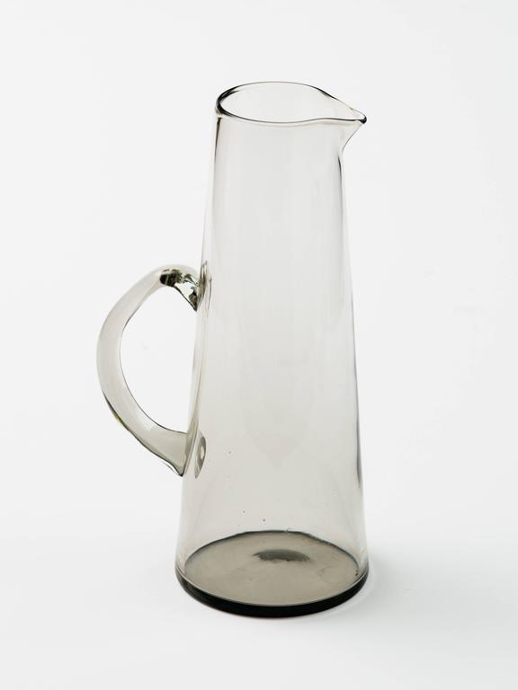 Scandinavian Modern Smoked Glass Vase / Martini Pitcher 4