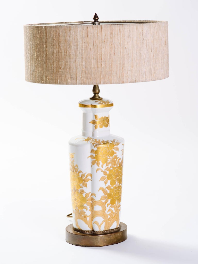 Pair of Hollywood Regency Porcelain Lamps by Marbro In Excellent Condition For Sale In Stamford, CT