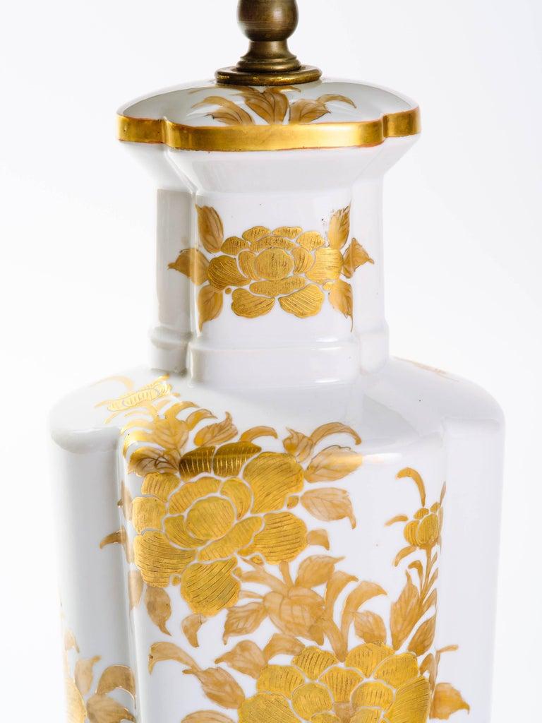 Pair of Hollywood Regency Porcelain Lamps by Marbro 4