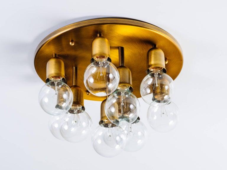 Post-Modern German Mid-Century Sputnik Flush Mount Light by Cosack For Sale