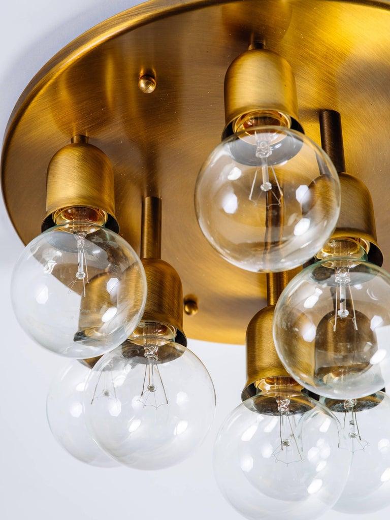 Metal German Mid-Century Sputnik Flush Mount Light by Cosack For Sale