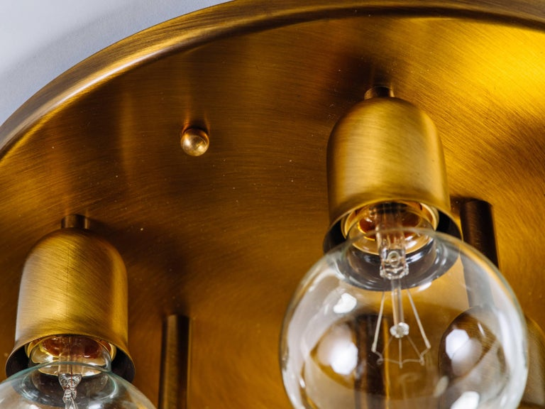 German Mid-Century Sputnik Flush Mount Light by Cosack For Sale 1