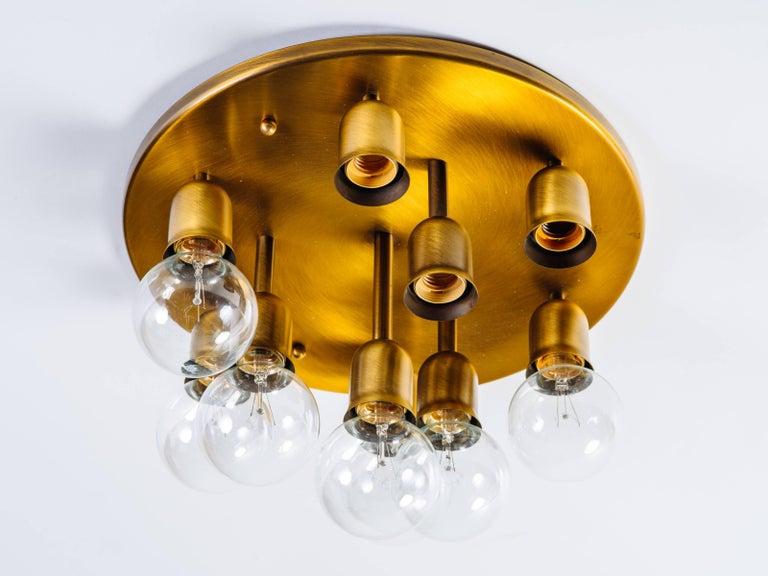 German Mid-Century Sputnik Flush Mount Light by Cosack For Sale 2