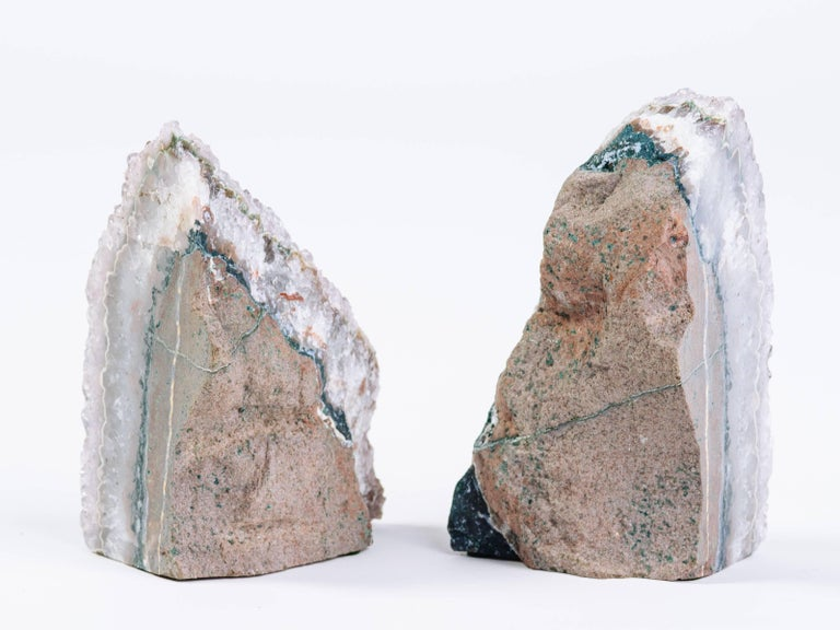 Pair of organic amethyst crystal and geode bookends for sale at 1stdibs - Geode bookends ...