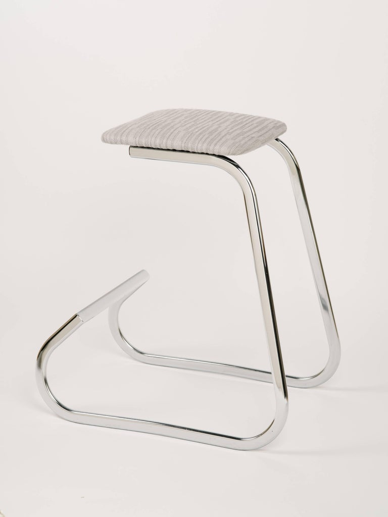 Pair of Embossed Mid-Century Modern Counter Stools by Charles Stendig For Sale 5