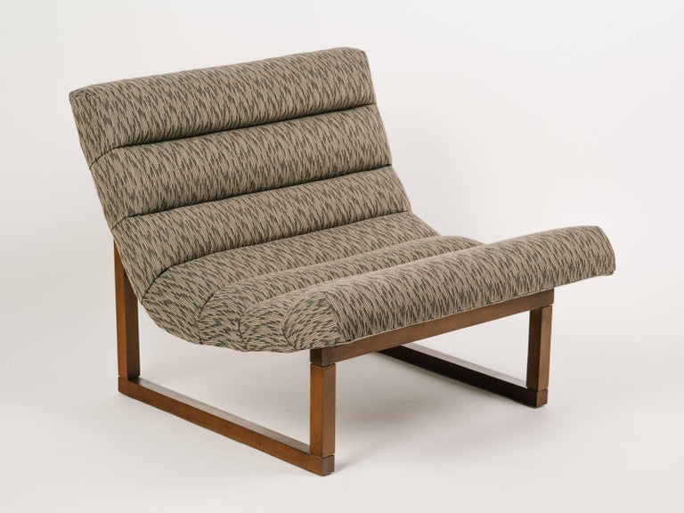 Mid-Century Modern Pair of Mid Century Scoop Lounge Chairs, in the Style of Milo Baughman For Sale