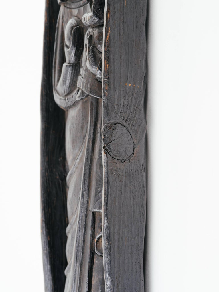 Victorian Gothic Wood Carving of Madonna and Child For Sale 3