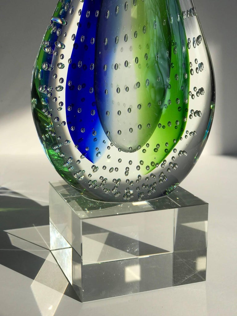Sculptural Murano Glass Teardrop Bookend or Paperweight For Sale 1