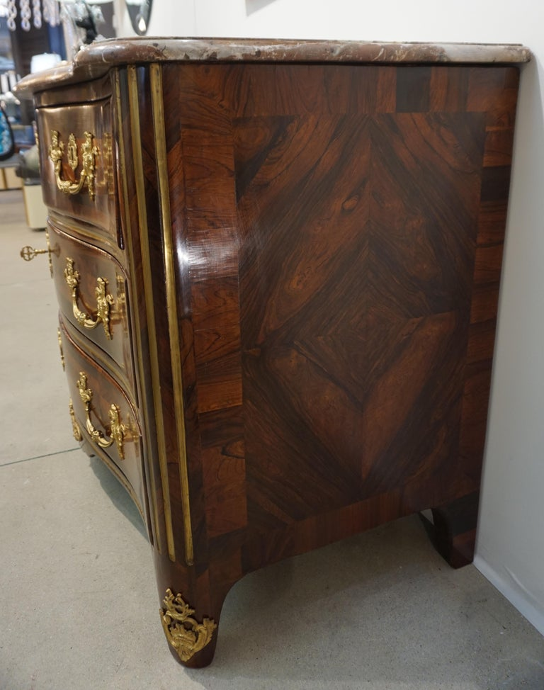 Maitre Marchand French Louis XV Ormolu Kingwood Chest / Commode with Provenance For Sale 6