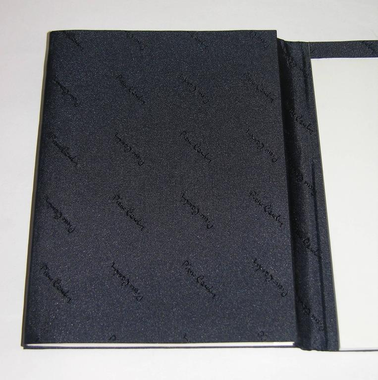 Pierre Cardin Vintage Address and Notebook Desk Set with Sterling Silver Cover For Sale 2