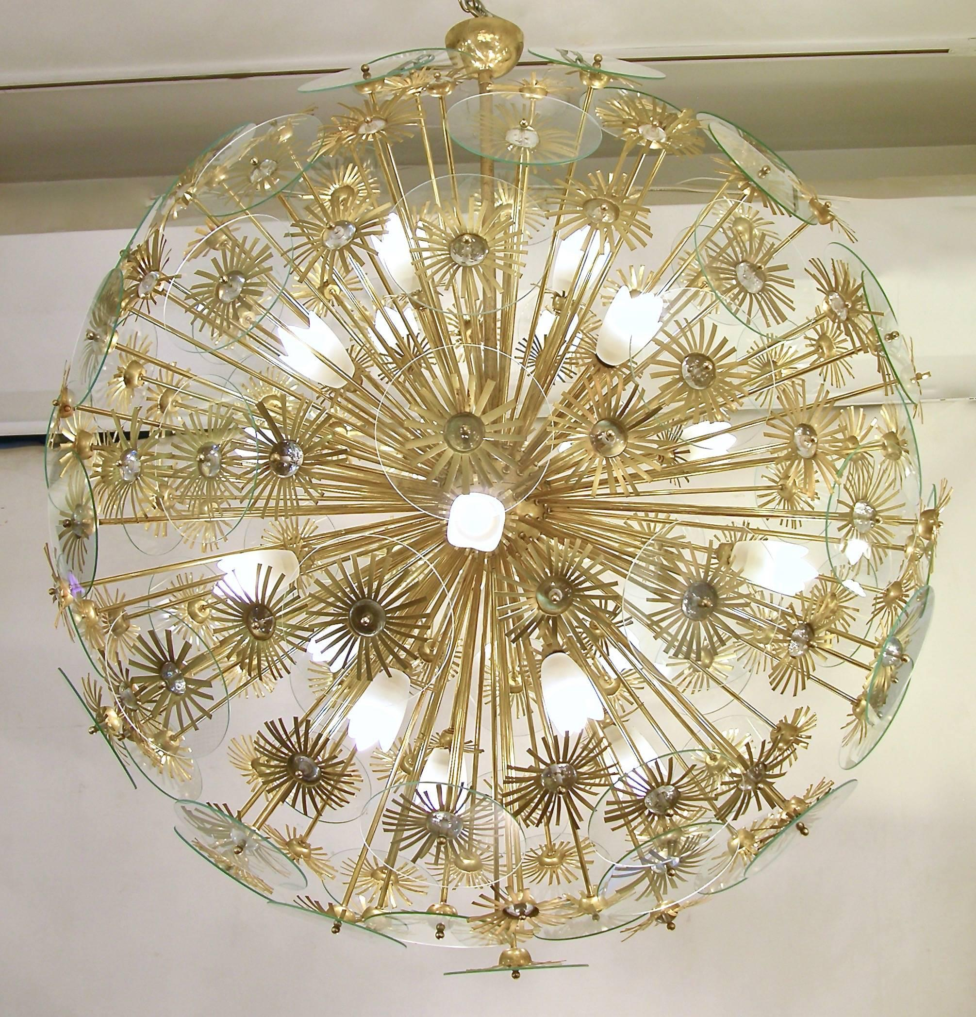 room size gold chandelier full urchin mid new fixture design dining of light modern century chandelierliving with