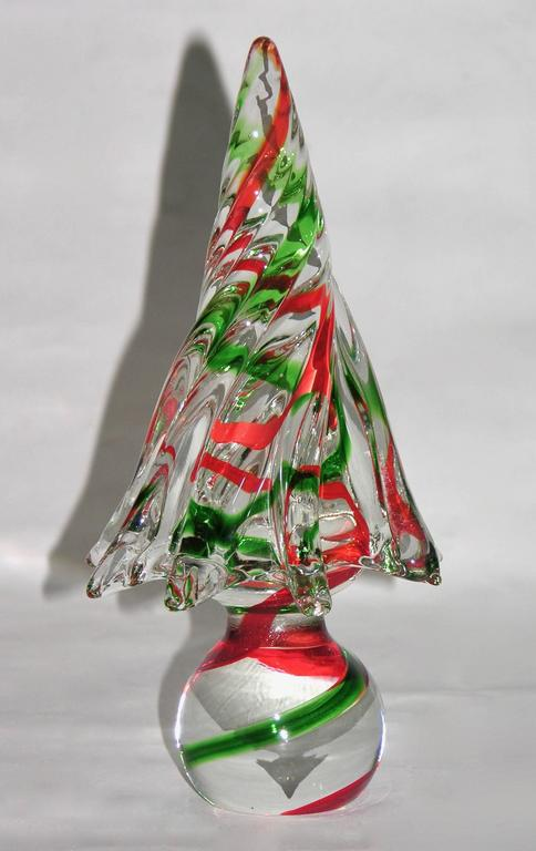 1980s Italian Vintage Colorful Murano Glass Christmas Trees Sculptures By Formia At 1stdibs