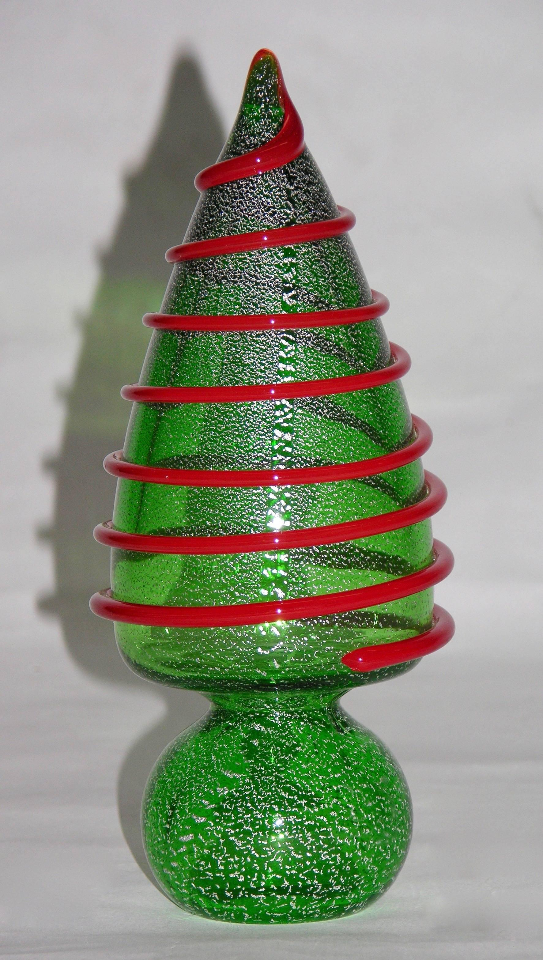 1980s Italian Vintage Colorful Murano Glass Christmas Trees ...