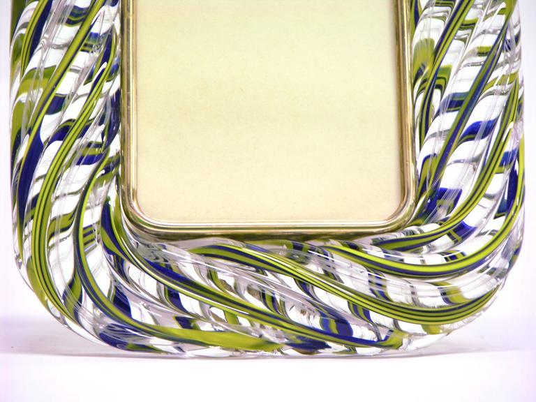 venini 1970s vintage blue yellow white murano glass
