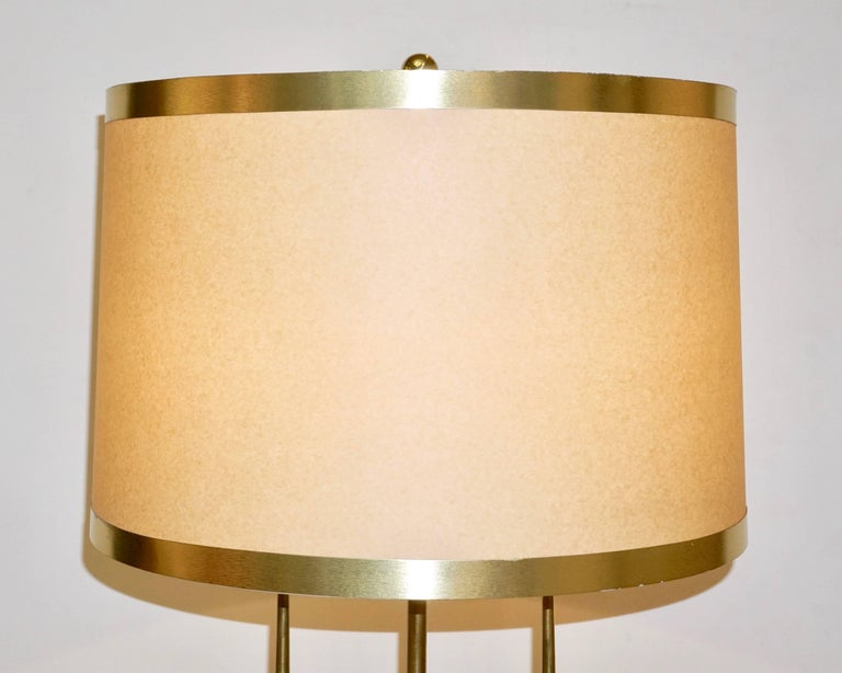 Italian Contemporary Fine Design Pair of Organic Gold Brass Lamps with Spheres For Sale 5