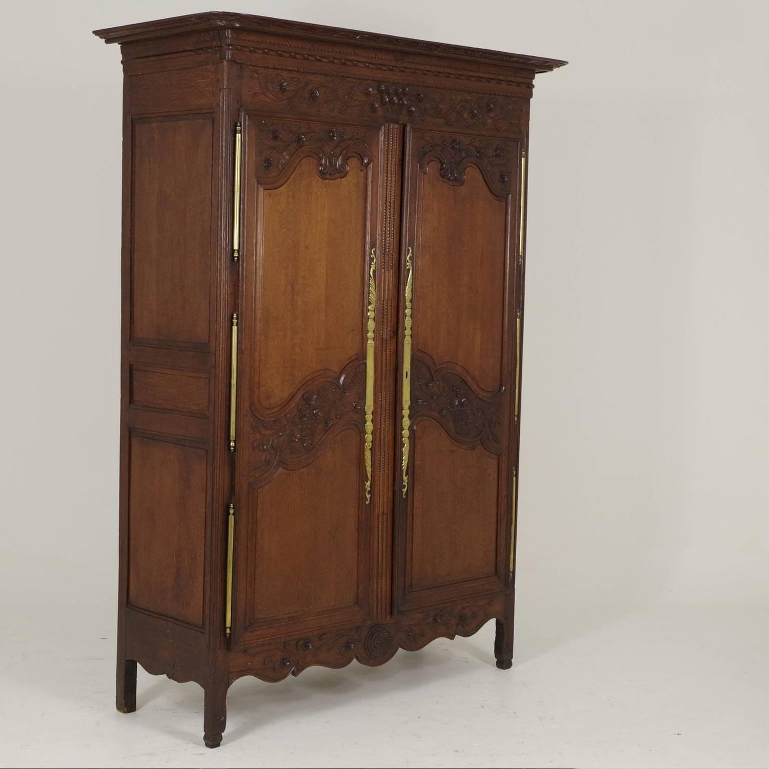 Antique French Normandy Marriage Armoire Wardrobe, 1840 at ...