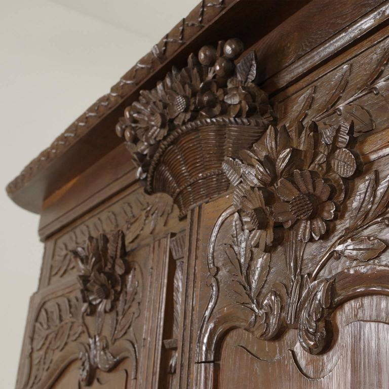 Antique French Normandy Marriage Armoire Wardrobe 1840 At